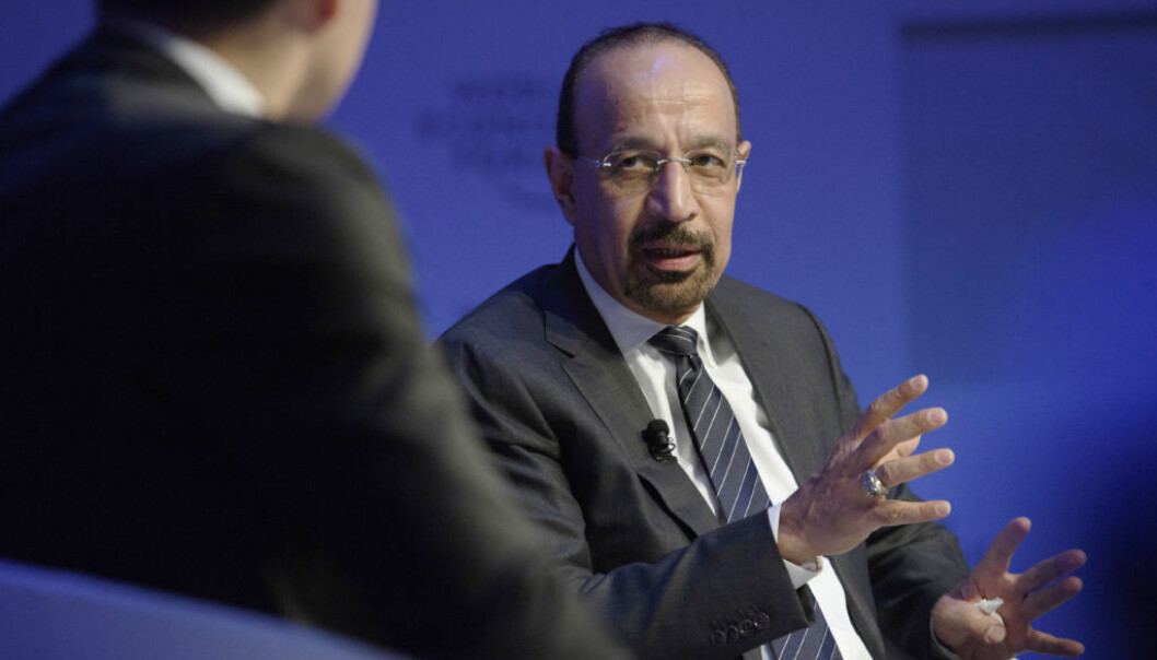 Khalid Al-Falih, Minister of Energy, Industry and mineral Resources of Saudi Arabia, is pictured during the 47th annual meeting of the World Economic Forum, WEF, in Davos, Switzerland, Thursday, Jan. 19, 2017. (Gian Ehrenzeller/Keystone via AP)