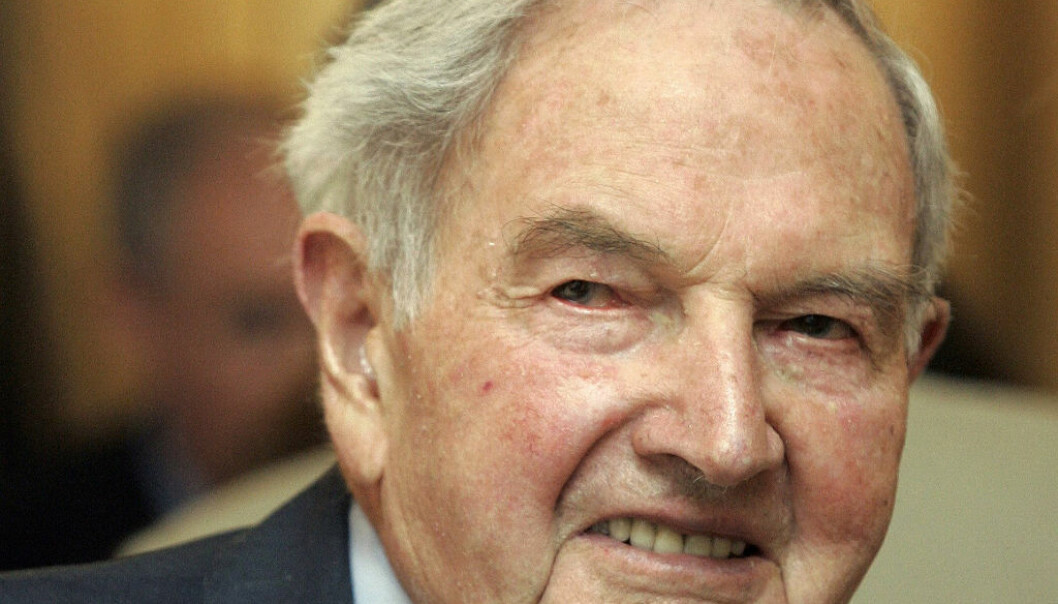 FILE - In this May 15, 2007, file photo, David Rockefeller participates in the C40 Large Cities Climate Summit in New York. The billionaire philanthropist who was the last of his generation in the famously philanthropic Rockefeller family died Monday, March 20, 2017, according to a family spokesman. He was 101 years old. (AP Photo/Richard Drew, File)