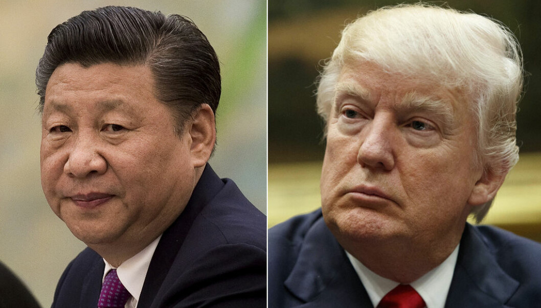 FILE - This combination of file photos show U.S. President Donald Trump, right, in a meeting at the White House in Washington, on March 31, 2017,  and China's President Xi Jinping  in a meeting at the Great Hall of the People in Beijing, on Dec. 1, 2016. President Xi probably won Äôt give President Trump a round of golf during their first face-to-face meeting on April 6-7, but may find it worthwhile to ensure his American counterpart does not feel like he Äôs leaving empty-handed. Some analysts believe Xi might be willing to hand Trump a symbolic victory on trade to put a positive spin on the meeting. (AP Photo/File)