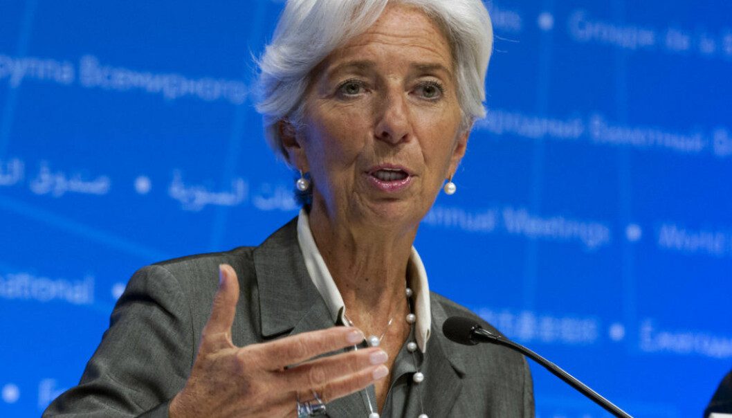 International Monetary Fund (IMF) Managing Director Christine Lagarde speaks during a news conference after the International Monetary and Financial Committee (IMFC) meeting at the World Bank/IMF Annual Meetings in Washington, Saturday, Oct. 14, 2017. ( AP Photo/Jose Luis Magana)