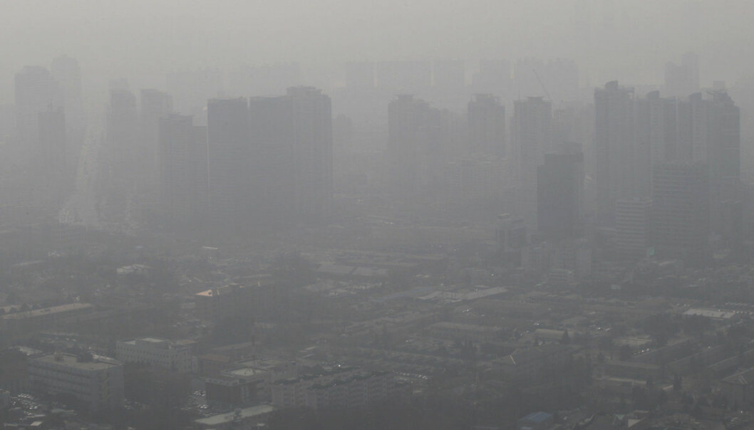 FILE - In this Feb. 26, 2014 file photo, buildings and houses are covered with a thick haze in Seoul, South Korea.  South Korea's rapidly worsening air pollution has forced the country's professional baseball league to postpone three games.The Korea Baseball Organization on Friday, April 6, 2018,  postponed the games in capital Seoul and the nearby cities of Suwon and Incheon after the government issued alerts over high fine dust levels in the metropolitan area.It's the first time the league postponed games because of air pollution since the country began pro baseball in 1982. A KBO official said the games will be rescheduled later in the season.    ( AP Photo/Ahn Young-joon, File)