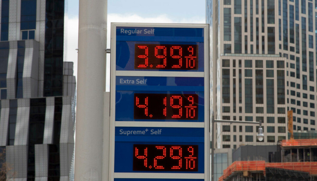 "FILE- In this April 18, 2018, file photo, gas prices are displayed at a Mobil station in New York. President Donald Trump is declaring that oil prices are too high and blaming a coalition of countries that control a significant portion of the world's supply of crude petroleum. Trump tweeted on Wednesday: ""Oil prices are too high, OPEC is at it again. Not good!"" (AP Photo/Mark Lennihan, File)"