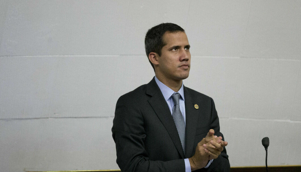 Venezuelan Congress President Juan Guaido, opposition leader who declared himself interim president, leads a session of the National Assembly in Caracas, Venezuela, Wednesday, March 6, 2019. The U.S. and more than 50 governments recognize Guaido as interim president, saying President Nicolas Maduro wasn't legitimately re-elected last year because opposition candidates weren't permitted to run. (AP Photo/Ariana Cubillos)